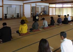 一条院の阿字観瞑想