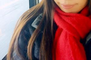 寒い冬の女性