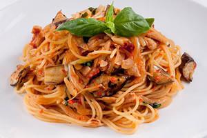 ナスと豚肉のスパゲッティーニのレシピ