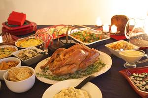 アメリカのクリスマス。七面鳥、ローストターキー
