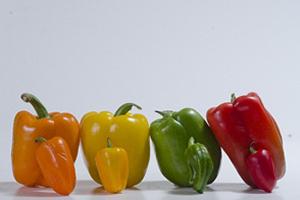 赤・黄色・オレンジ色のパプリカのビタミンCやE、βカロテンは抗酸化力が強く美肌効果
