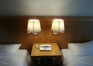 ホテルなどによくあるナイトランプも切りましょう