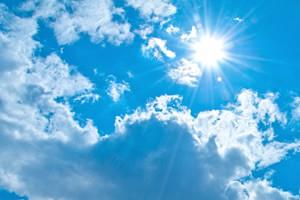 朝、太陽の光を浴びる
