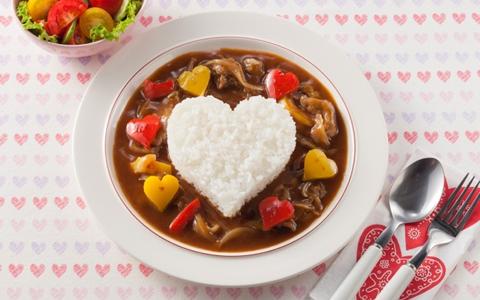 バレンタインのハート型の献立レシピ
