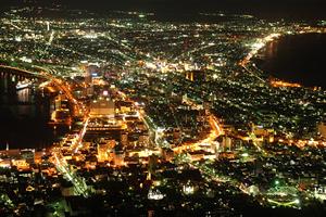 函館山の夜景(函館)。世界三大夜景のひとつ
