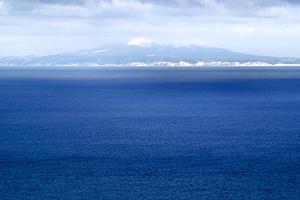 羅臼から見える北方領土