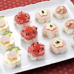 みんなで分けて食べやすい!かわいい一口寿司