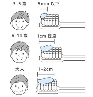 子供と大人の歯磨き粉の適量