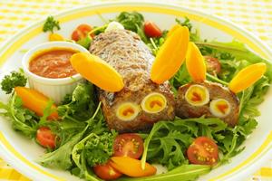 イースター手作り料理・レシピ④「うさぎのイースター・ミートローフ」