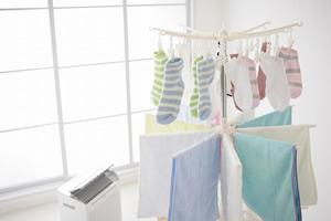 洗濯物はベランダに干さない。室内で干すか、乾燥機や浴室乾燥機を使う