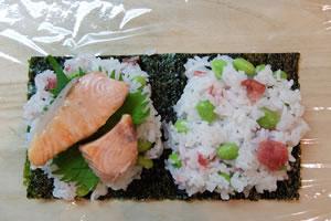 定番のおにぎりの具、鮭・たらこ・梅など(47.6%)