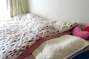 当日忘れると困る必須アイテム3位「寝具(枕、布団、ベット等)」