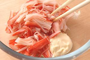 刺身、海鮮以外のネタ 3位「カニマヨネーズ(サラダ巻き)」