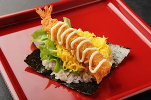子供の好きな手巻き寿司「海老フライ・マヨ」