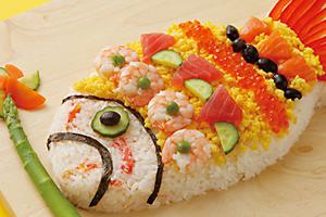 鯉のぼり寿司(デコちらし寿司)
