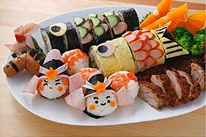 鯉のぼりの巻き寿司