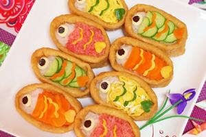 鯉のぼりの稲荷寿司