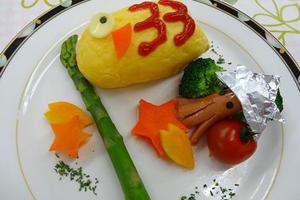 鯉のぼりオムライス・プレート
