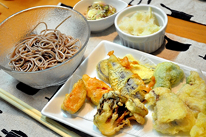 天ぷらそば、天ざる蕎麦