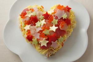 七夕の手作り料理「1年に1度の愛を祝う!ハートのちらし寿司」