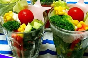 七夕のサラダ・パフェ