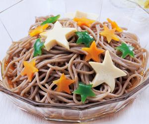 七夕の手作り料理「七夕の蕎麦」