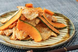 かぼちゃと豚肉の生姜焼き
