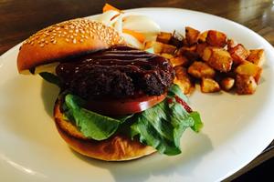 シンプルなハンバーガー