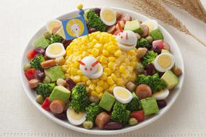 うさぎのコーンサラダ