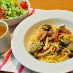 【パスタ/付け合わせ】定番・簡単レシピ!人気のパスタ・スパゲティに合う献立、おかずと料理「パスタにあう料理とサイドメニューは、パンとサラダ、スープが基本の副菜!子供と旦那の為の家庭料理の最強レシピ」