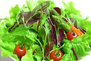 水菜、サニーレタス、トマト