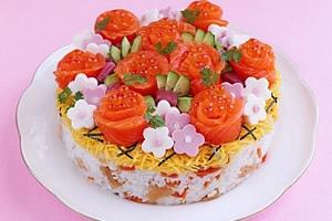 サーモンのバラちらし寿司