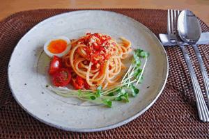 お昼ごはんのスパゲティ、ランチに食べたい手作り料理