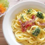 【カルボナーラ/付け合わせ/献立】人気・定番・簡単!カルボナーラに合う料理&おかずレシピ、副菜特集「卵、ベーコン、クリームが材料のカルボナーラには、あっさり系サラダとスープ!?」