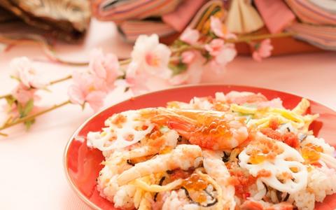 【ひな祭り/ちらし寿司/具レシピ】雛祭りのちらし寿司の具材、盛り付け方!子供が喜ぶ雛ちらしの献立「超簡単&定番!人気の雛祭りのお祝い料理!ちらし寿司は、盛り付け方で大きく変わる料理」