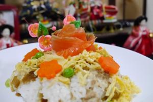 ちらし寿司とサーモン