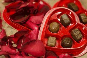 ハート型の義理チョコ