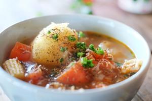 カレーライスに合うスープ、付け合わせの献立レシピ