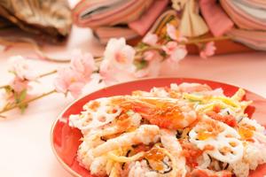 ひな祭りの手作りちらし寿司レシピ、ちらし寿司の具材と献立