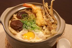 天ぷらと鍋焼きうどん