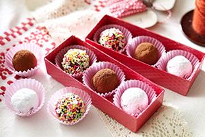 手作りバレンタイン、チョコの詰め合わせ