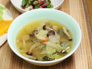きのこ白菜スープ