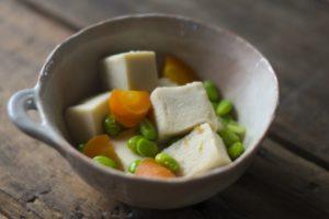枝豆と高野豆腐