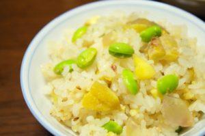 栗ご飯と枝豆