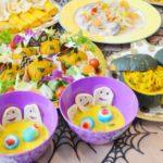 【ハロウィン/子供のご飯レシピ、料理】簡単!おしゃれなハロウィンで人気の盛り付け、飾りつけ料理集「チーズとカボチャでお化けやランタン風にデコレーション」