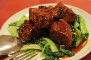 豚の角煮と青梗菜
