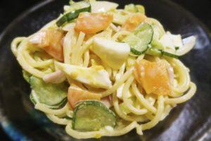 スパゲティサラダ(きゅうり、ハム、人参)