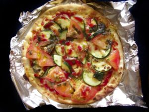 ズッキーニのピザ