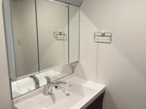 洗面台と鏡の掃除