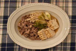 肉豆腐の献立と付け合わせ